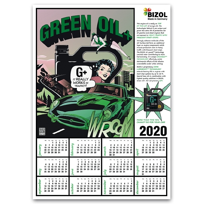 BIZOL Calendar Green Oil 2020