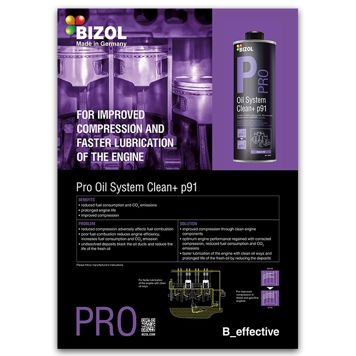 Poster for BIZOL Pro Oil System Clean+ p91