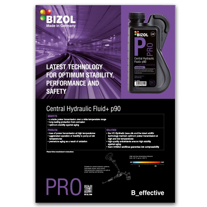 Poster for BIZOL Pro Central Hydraulic Fluid+ p90