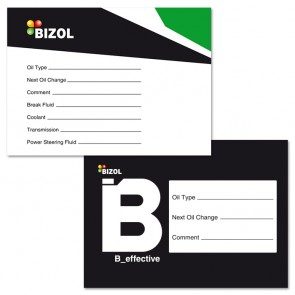 BIZOL Oilchange Tag B_effective (Sticker)