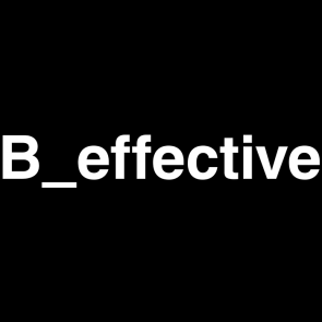 Logo B_effective (typeface, white)