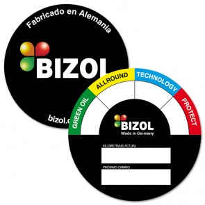 BIZOL Oil Change Sticker ES